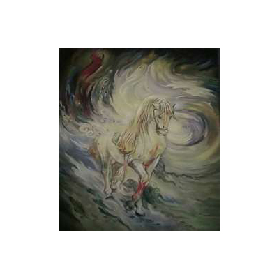 تابلو نقاشی با موضوع اسب
