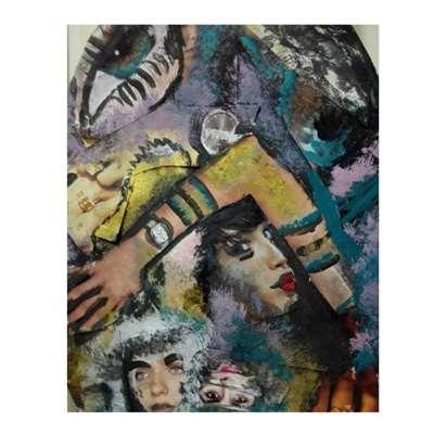 تابلو نقاشی  با موضوع آشفتگی