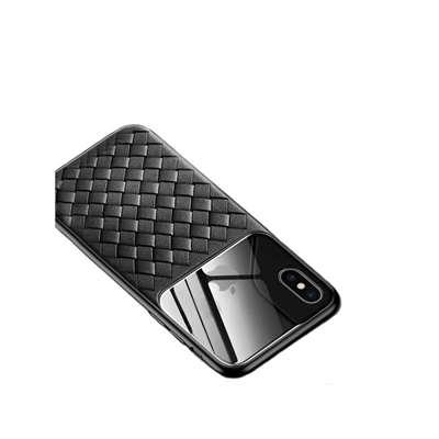 قاب طرح چرم و حصیری Apple iPhone XS Max Baseus Gla