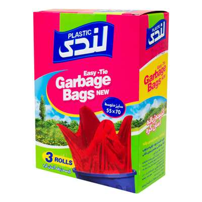 کیسه زباله آسان گره لندی پلاستیک 55*70 متوسط 42 عد