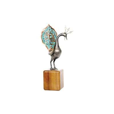 تندیس طاووس علم مجموعه حدید طرح  فیروزه