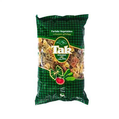 ماکارونی فرمی پروانه ای سبزیجات تک ماکارون 500 گرم