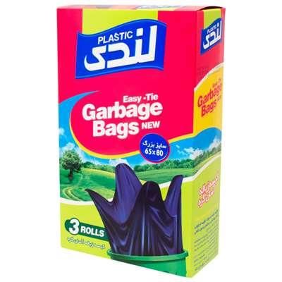 کارتن 4 عددی کیسه زباله آسان گره لندی پلاستیک 65*8